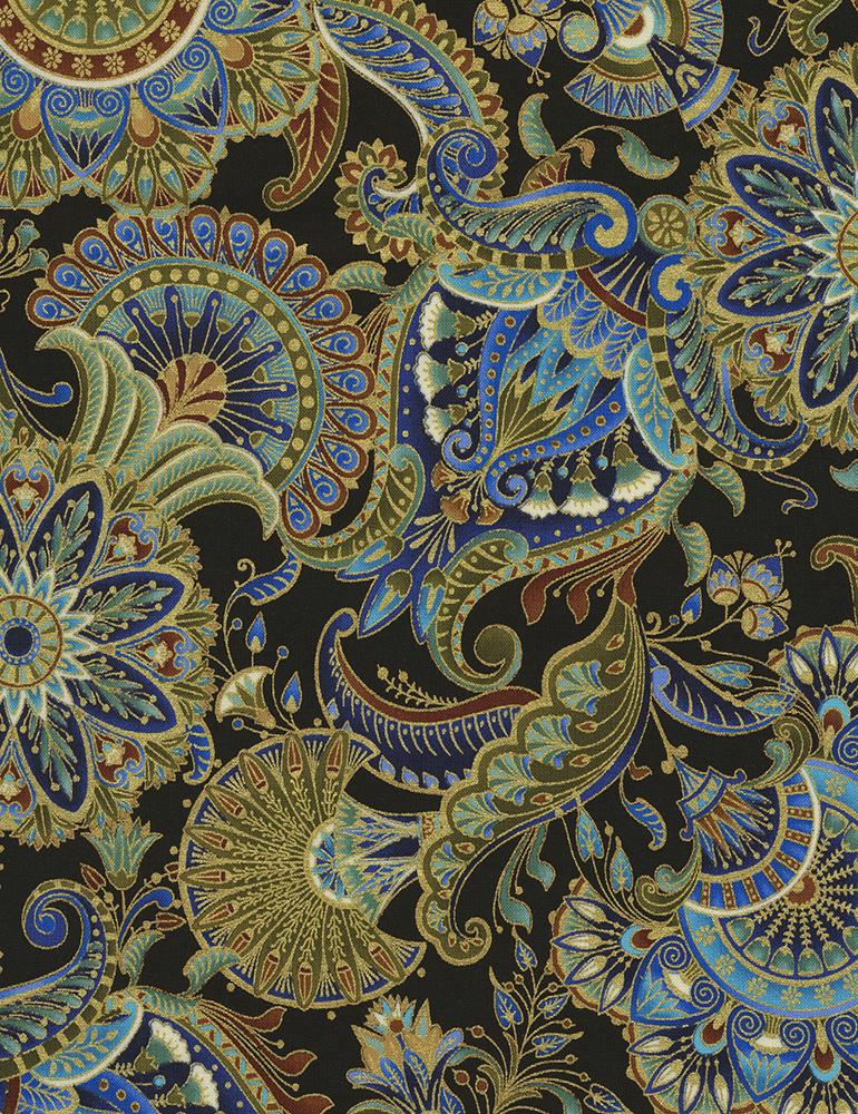 Látka s metalickými niťami Timeless Treasures - Látky Magnólia b17a5872c9